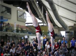 跳水大奖赛中国4金1银 男子十米台小将包揽金银牌